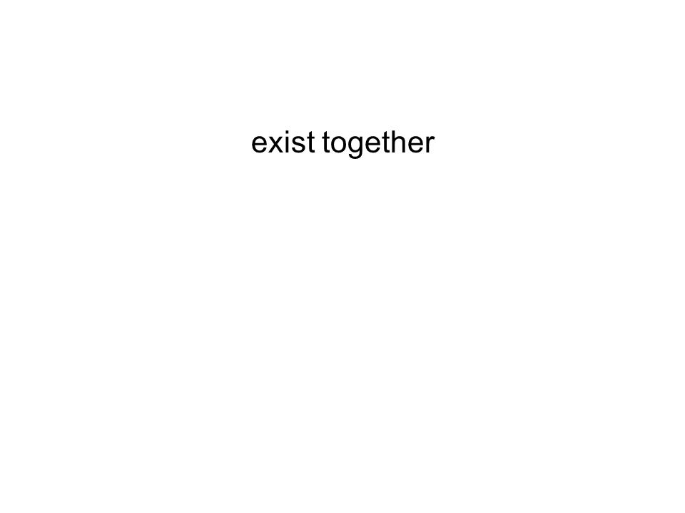 exist together
