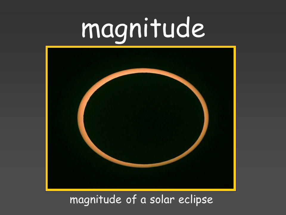 magnitude magnitude of a solar eclipse