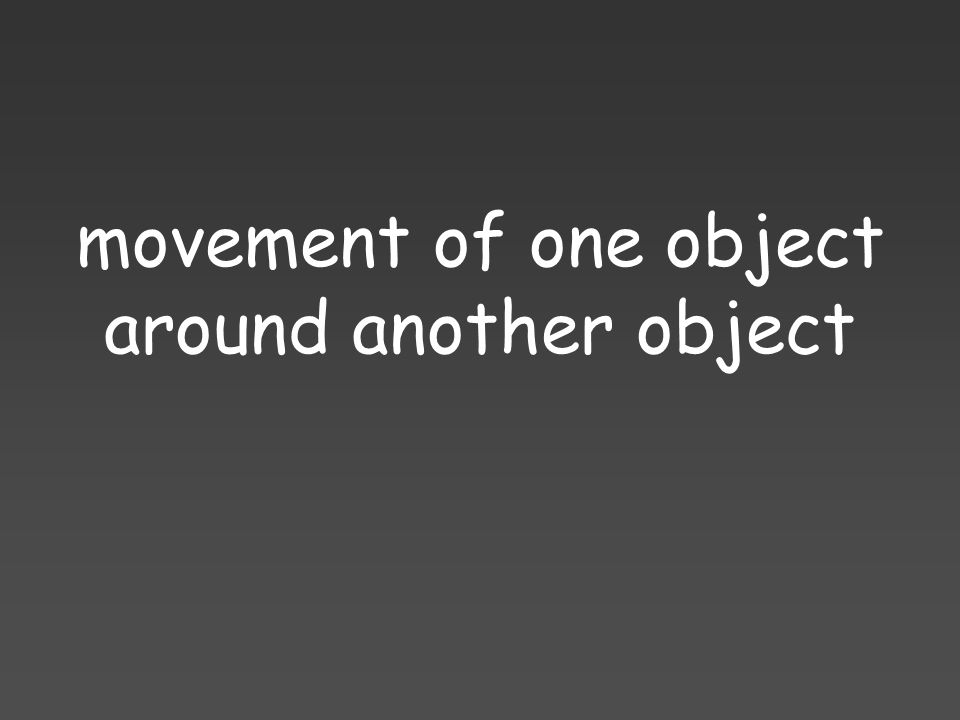 movement of one object around another object