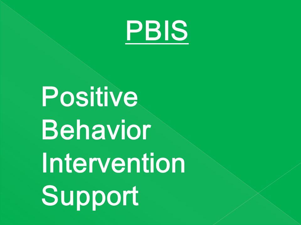 PBIS Positive Behavior Intervention Support