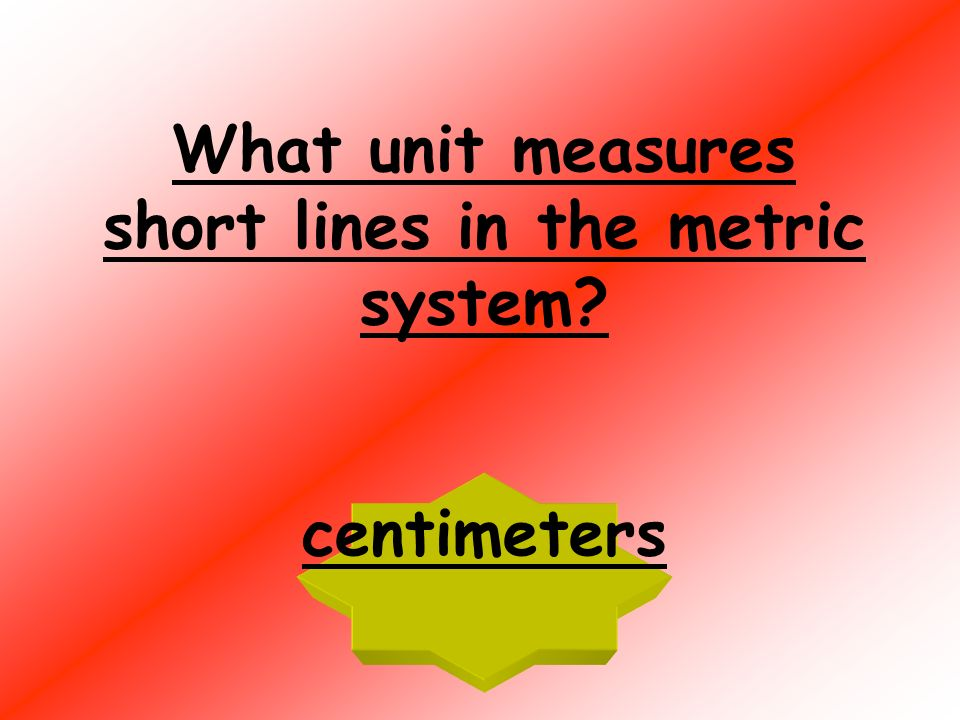 What unit measures short lines in the customary system? inches