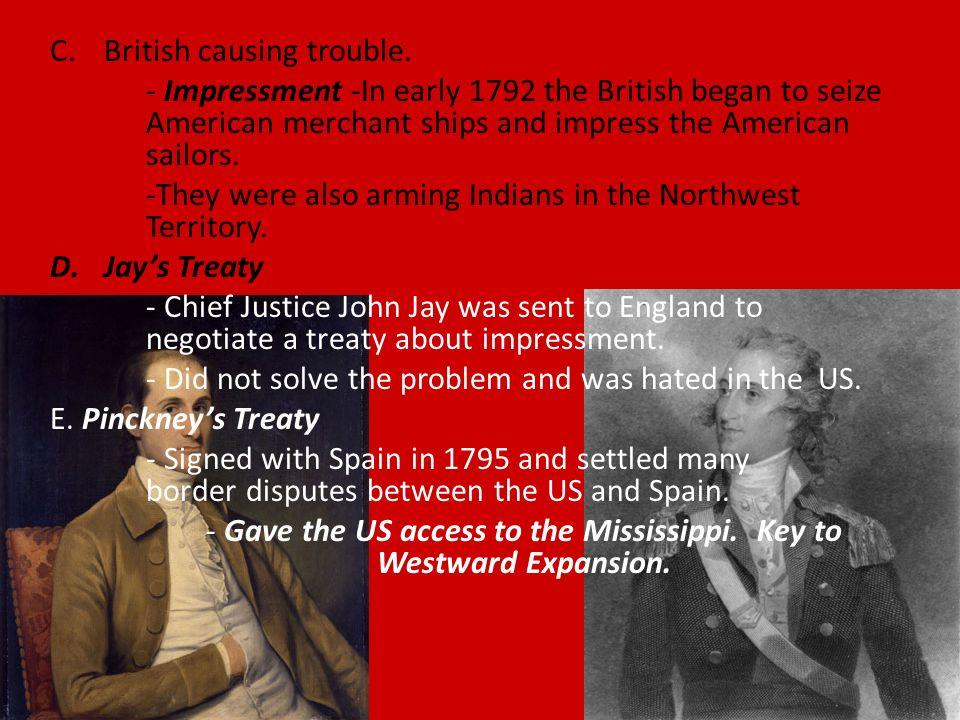 C.British causing trouble.