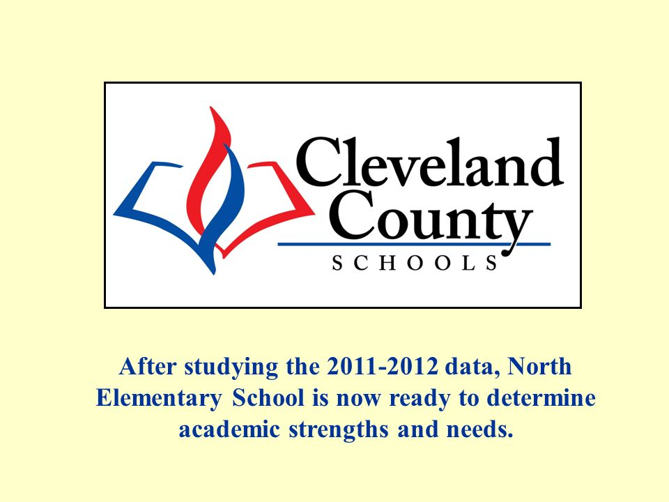 After studying the data, North Elementary School is now ready to determine academic strengths and needs.