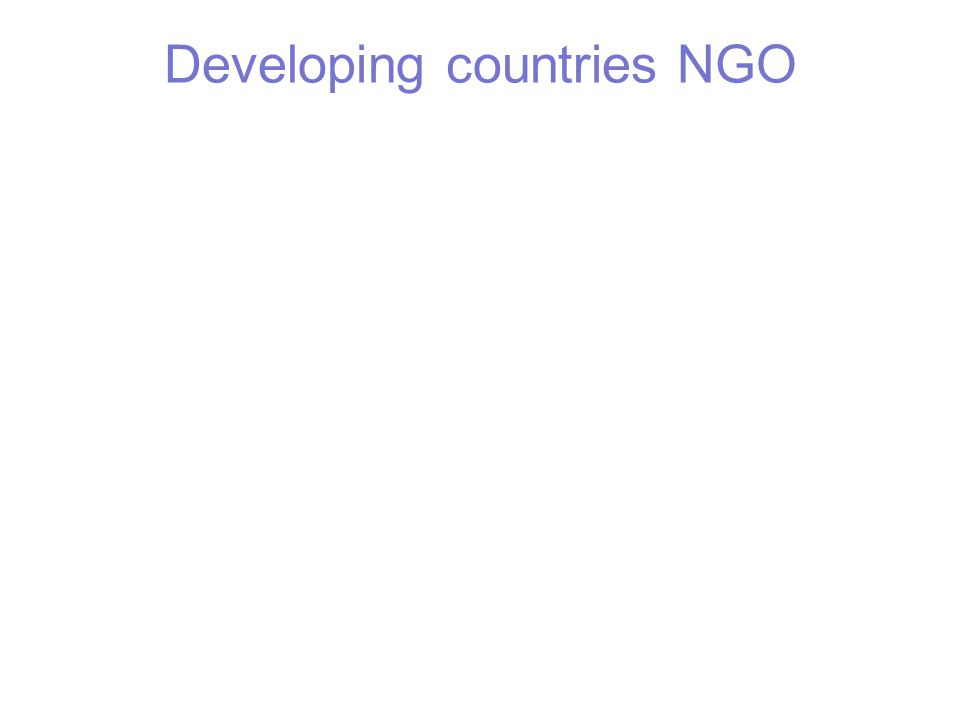 Developing countries NGO