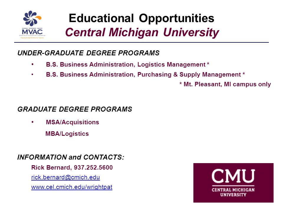 Educational Opportunities Central State University UNDER-GRADUATE DEGREE PROGRAMS Business Administration INFORMATION and CONTACTS: Charles Showell, 937.376.6441 cshowell@centralstate.edu www.centralstate.edu
