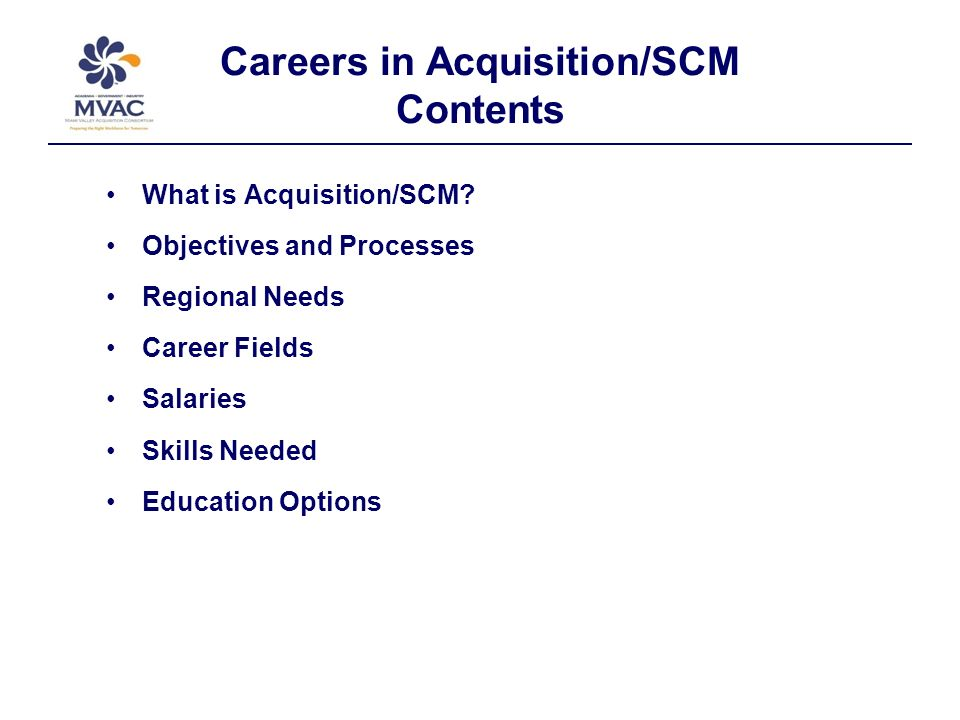 Focus Public and Private Sector Personnel: Logistics, Procurement, and Supply Chain Management (SCM) Specialists.