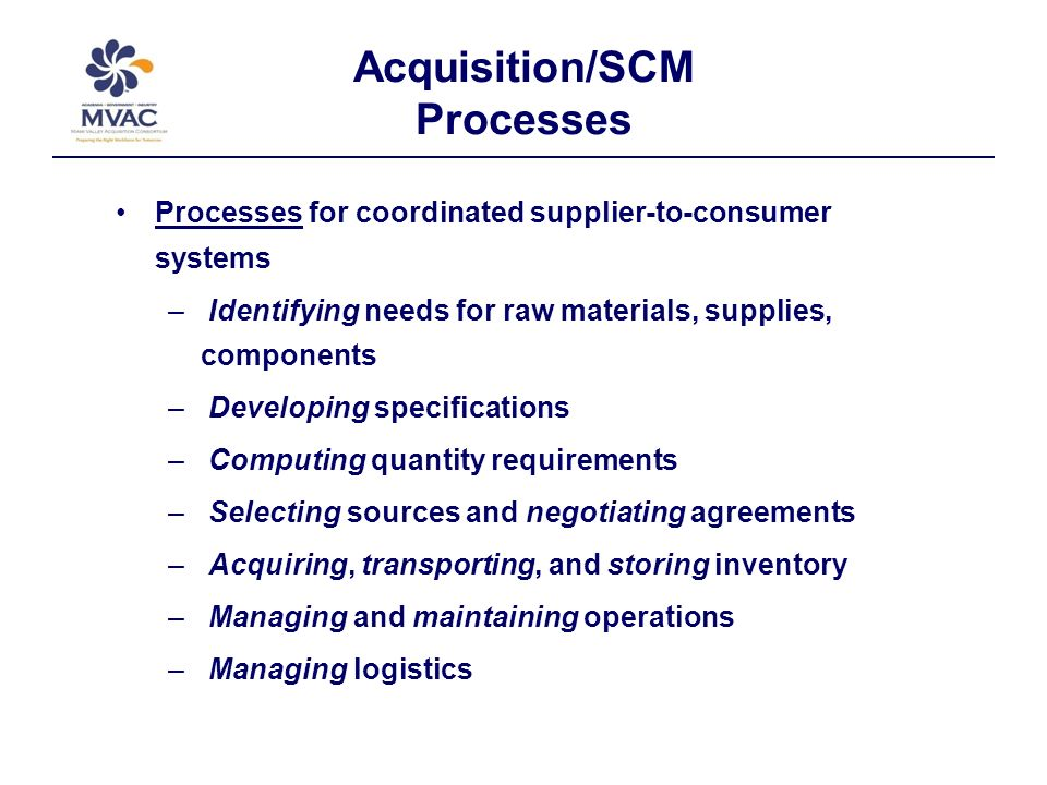 Acquisition/SCM Regional Needs Regional work force needs driven by private and public sector influences DoD presence at WPAFB - Requires government employees and support contractors - Specialized knowledge of all facets of acquisition and logistics 90 Minute Market reach of Interstate 70/75 commerce corridor - Requires industry specialists - Expertise in all aspects of supply chain management