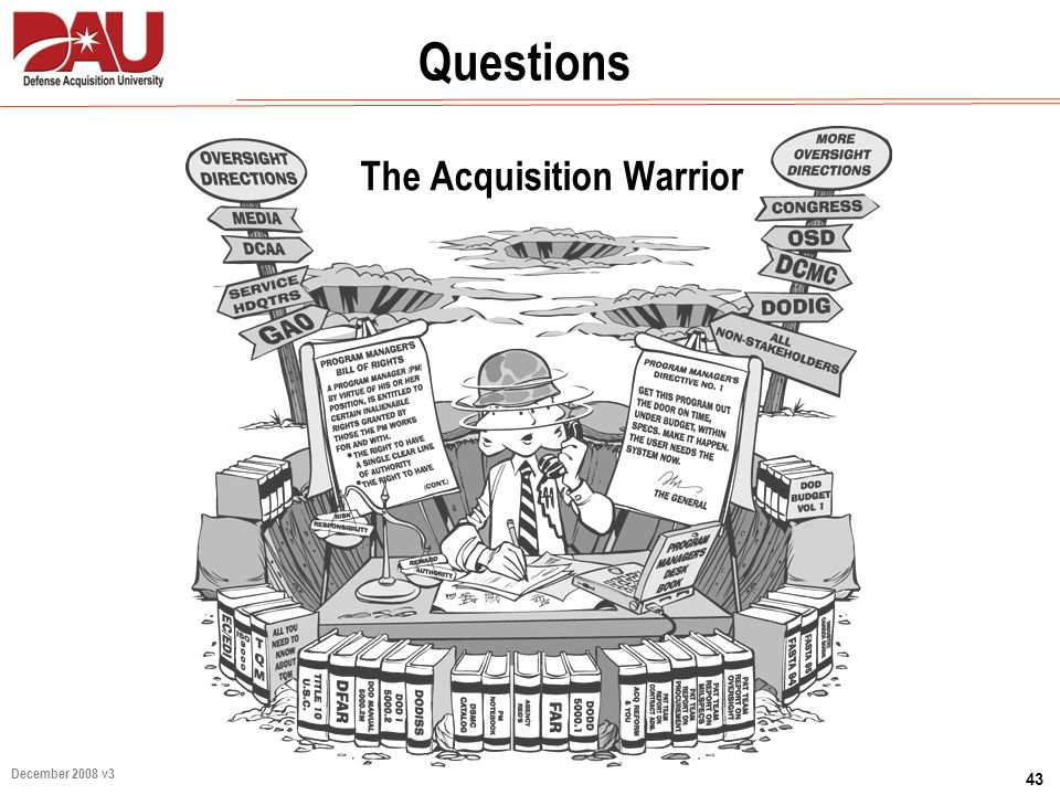 43 December 2008 v3 The Acquisition Warrior Questions