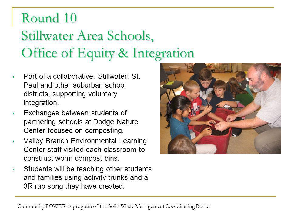 Round 10 Stillwater Area Schools, Office of Equity & Integration Part of a collaborative, Stillwater, St.