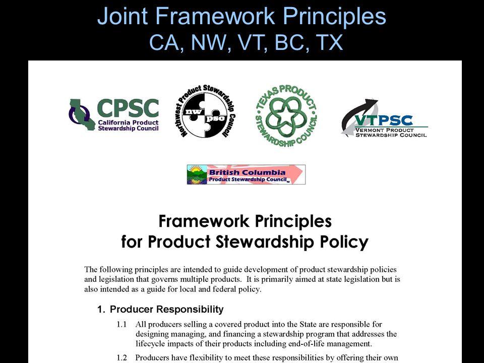 26 Joint Framework Principles CA, NW, VT, BC, TX