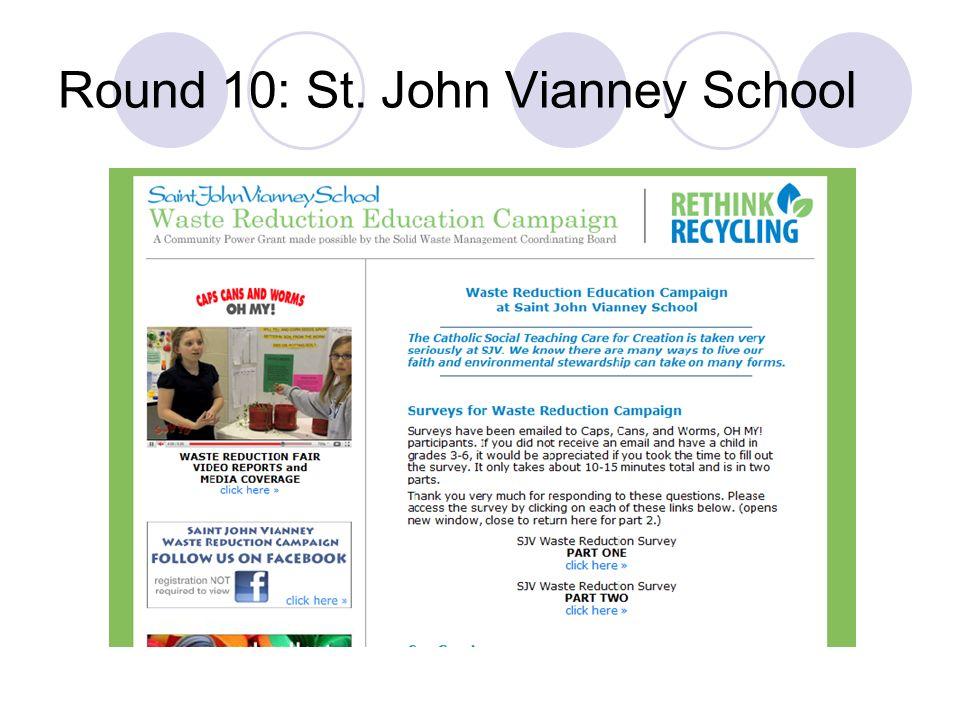 Round 10: St. John Vianney School