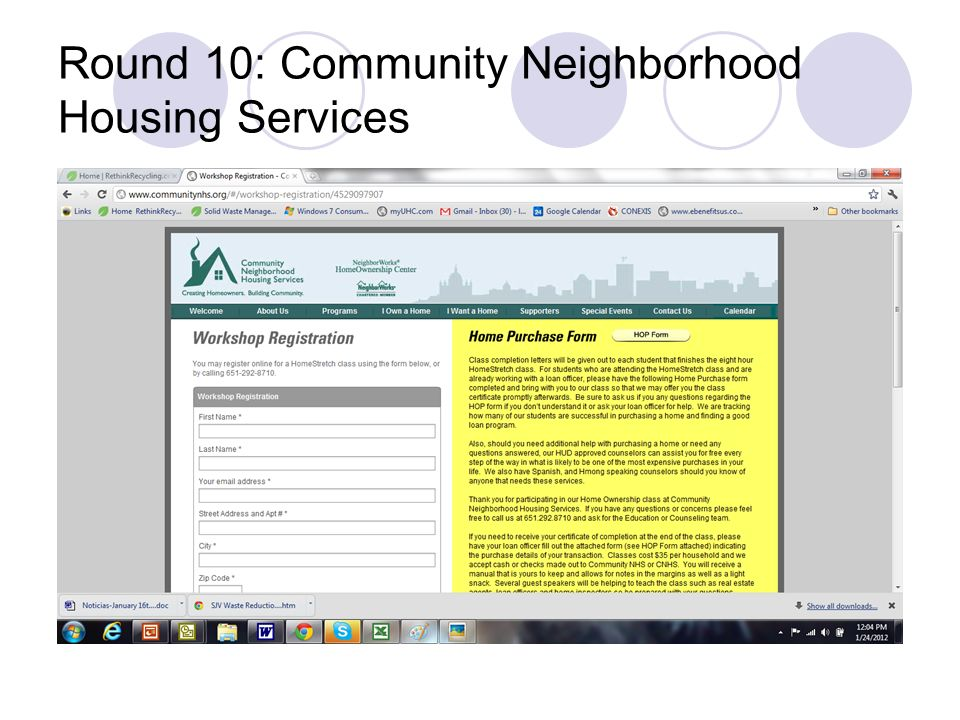 Round 10: Community Neighborhood Housing Services