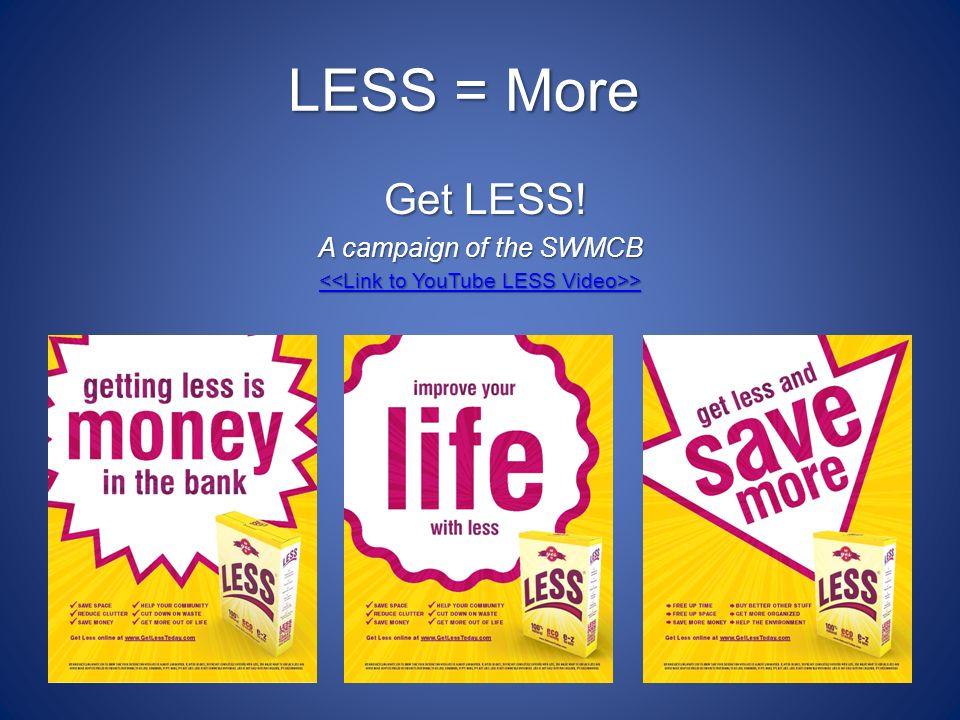 LESS = More Get LESS.