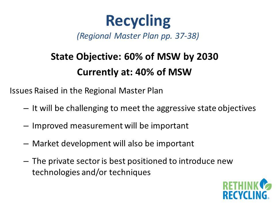 Recycling (Regional Master Plan pp.