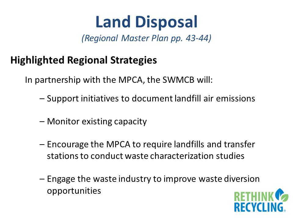 Land Disposal (Regional Master Plan pp.