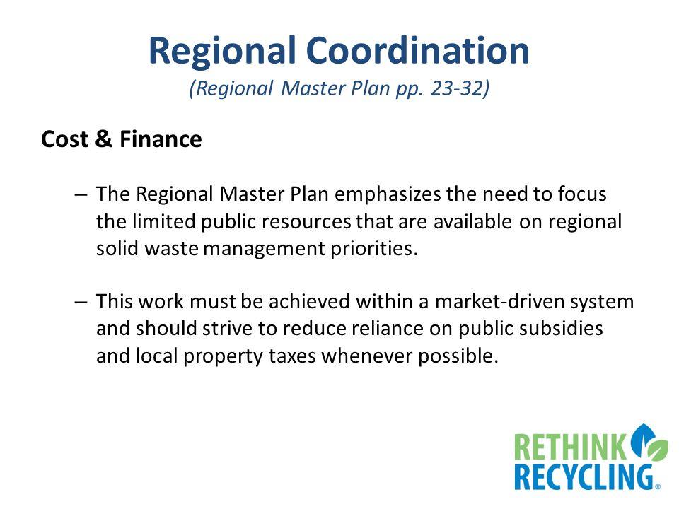 Regional Coordination (Regional Master Plan pp.