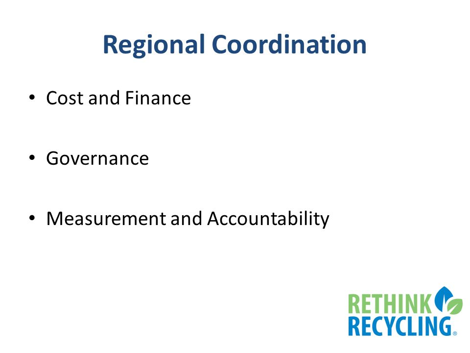 Regional Coordination Cost and Finance Governance Measurement and Accountability