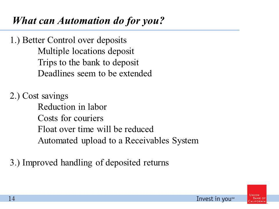 What can Automation do for you.