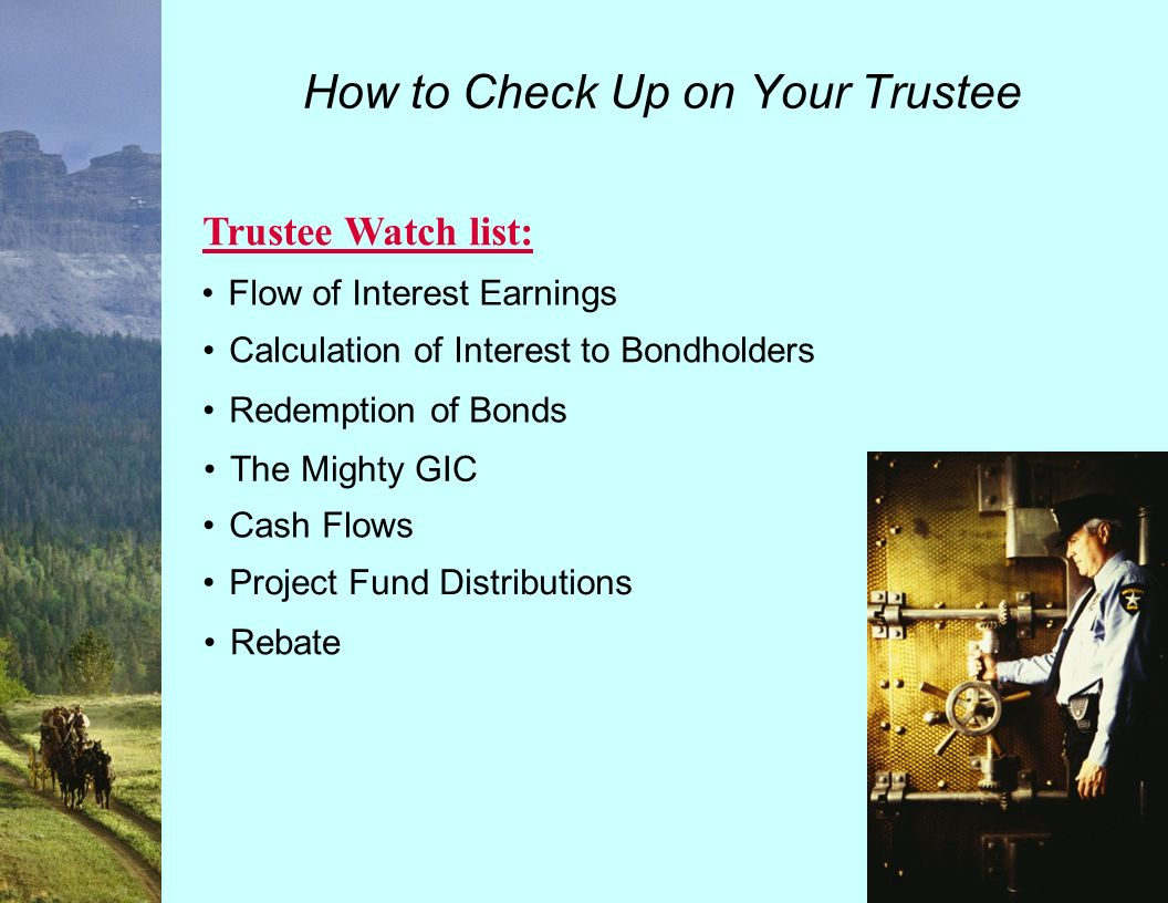 Trustee Information The Next 30 Years – How to Check Up on Your Trustee.