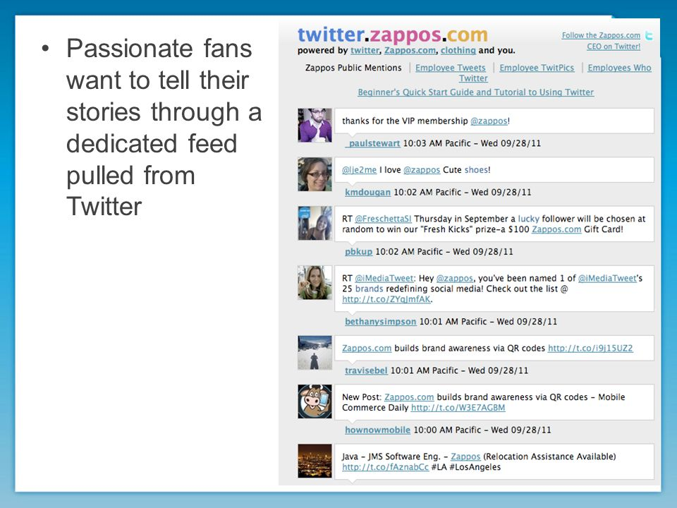 Passionate fans want to tell their stories through a dedicated feed pulled from Twitter
