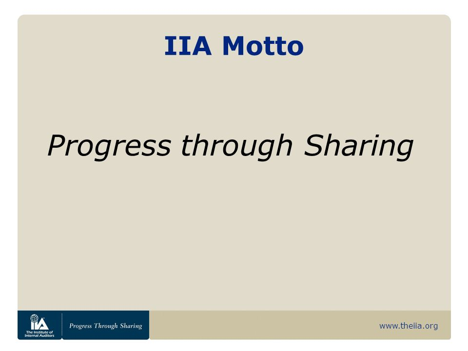 www.theiia.org Reporting Relationships The internal auditor should have a dual reporting relationship to the audit committee and to the CEO.