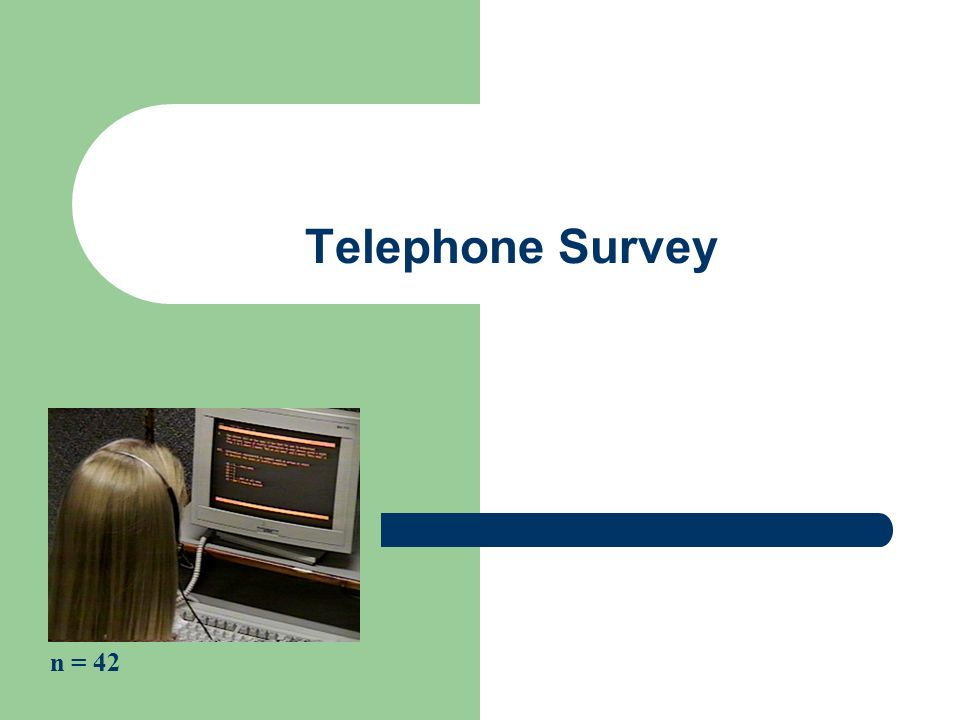 Telephone Survey n = 42