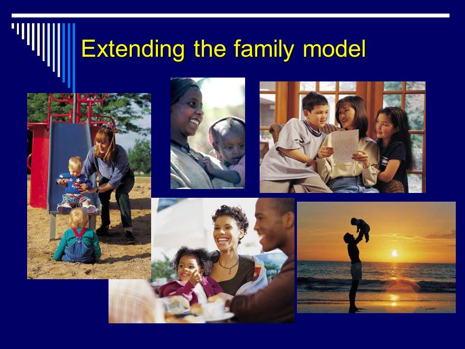 Extending the family model
