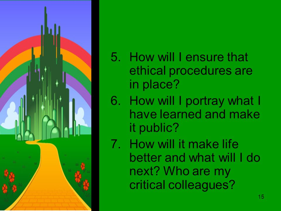 5.How will I ensure that ethical procedures are in place.