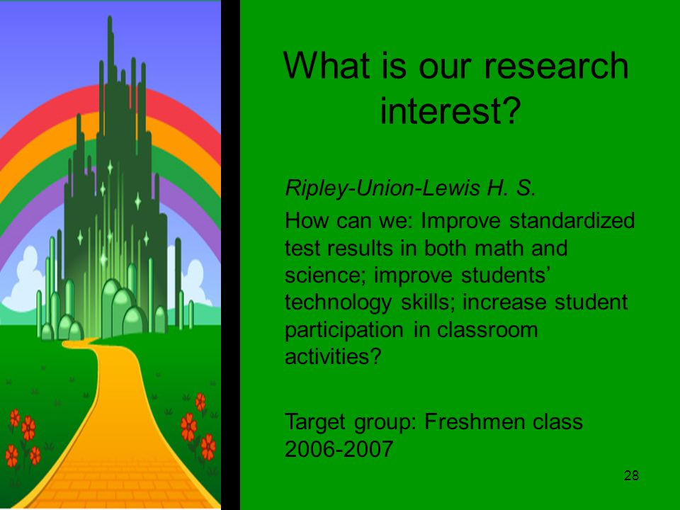 What is our research interest. Ripley-Union-Lewis H.