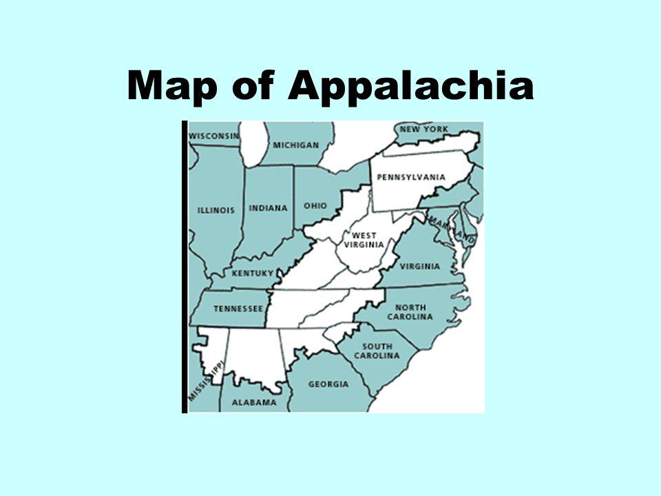 Map of Appalachia