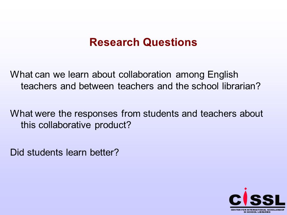 What can we learn about collaboration among English teachers and between teachers and the school librarian.