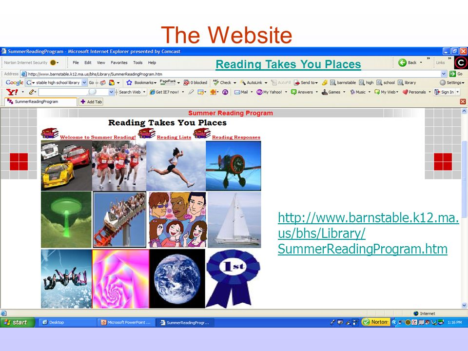 Reading Takes You Places The Website