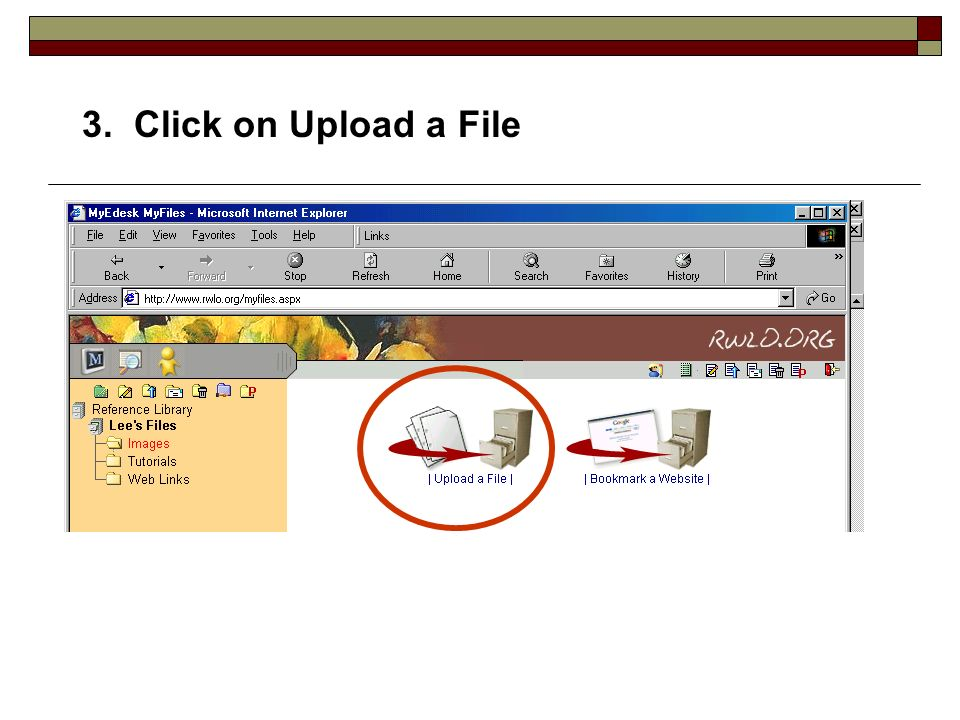 3. Click on Upload a File