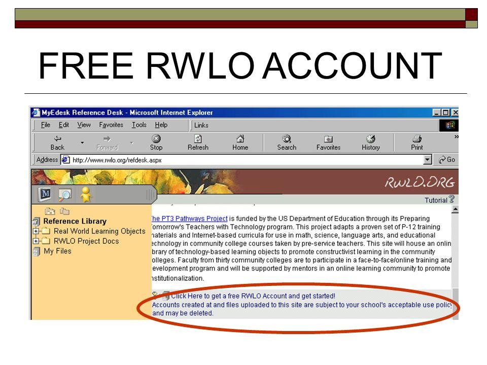 FREE RWLO ACCOUNT