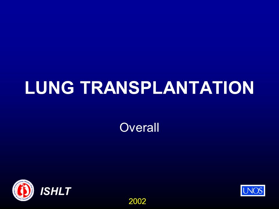 2002 ISHLT LUNG TRANSPLANTATION Overall