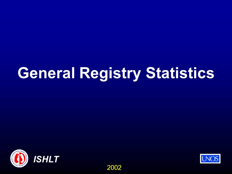 2002 ISHLT General Registry Statistics