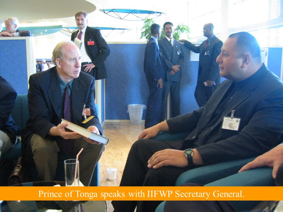 Prince of Tonga speaks with IIFWP Secretary General.