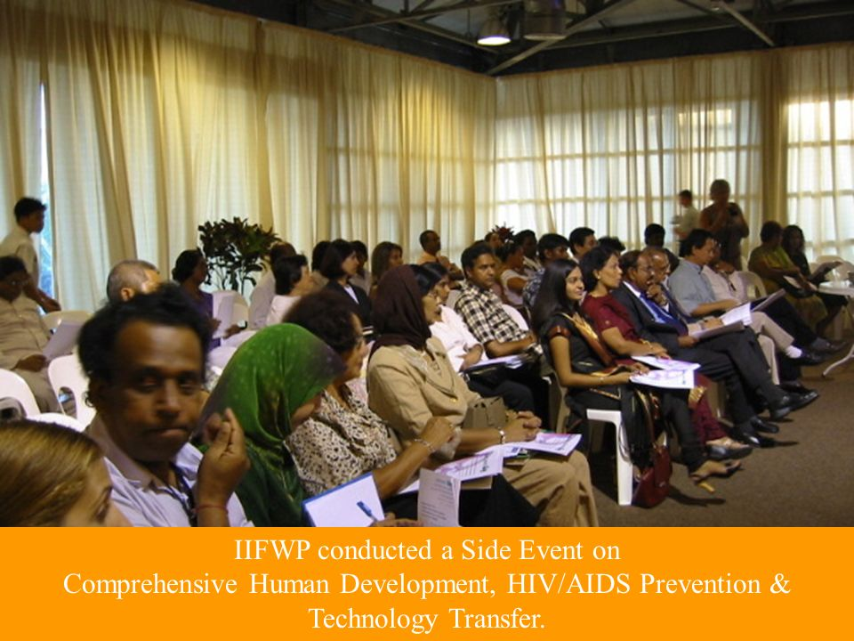 IIFWP conducted a Side Event on Comprehensive Human Development, HIV/AIDS Prevention & Technology Transfer.