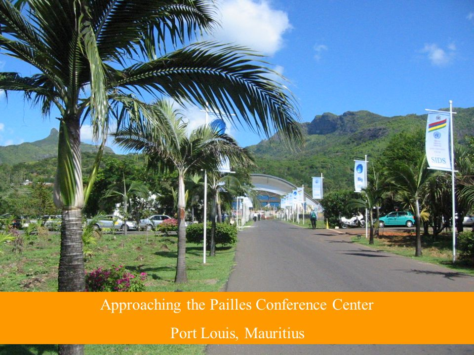 Approaching the Pailles Conference Center Port Louis, Mauritius
