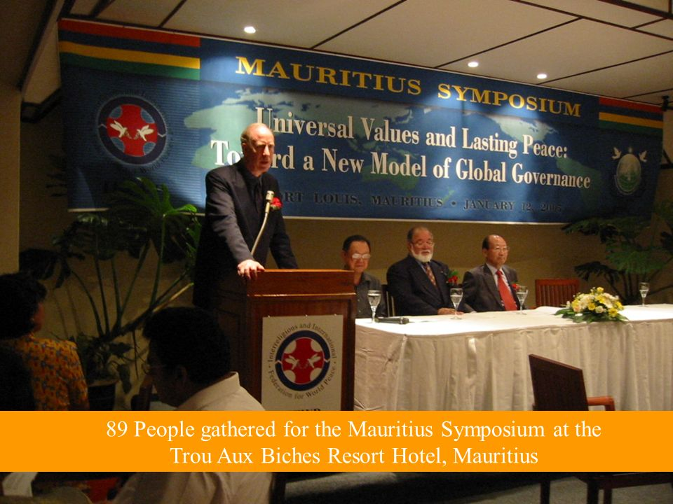 89 People gathered for the Mauritius Symposium at the Trou Aux Biches Resort Hotel, Mauritius