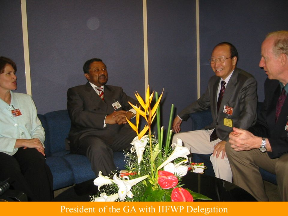 President of the GA with IIFWP Delegation