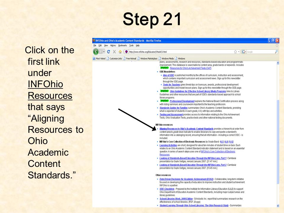 Step 20 It is now time to copy and paste the Ohio Academic Content Standards into the MARC record.