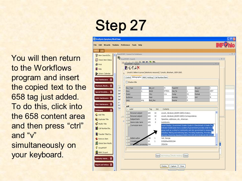 Step 26 You will then drag your mouse to highlight the text.