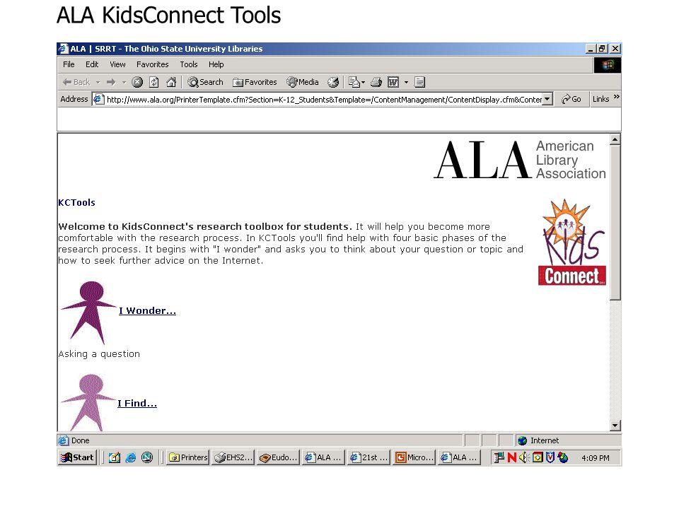 ALA KidsConnect Tools