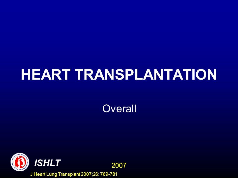 HEART TRANSPLANTATION Overall ISHLT 2007 J Heart Lung Transplant 2007;26: 769-781