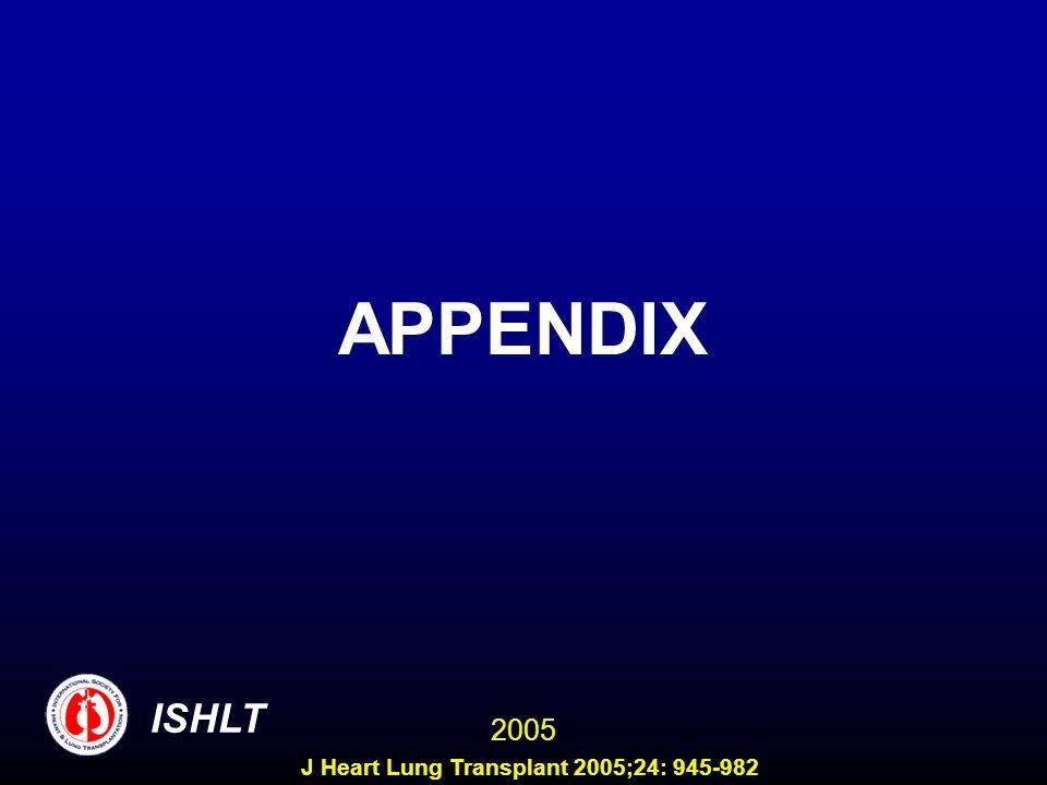 APPENDIX ISHLT 2005 J Heart Lung Transplant 2005;24: 945-982