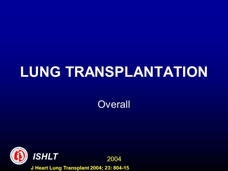 2004 ISHLT J Heart Lung Transplant 2004; 23: 804-15 LUNG TRANSPLANTATION Overall