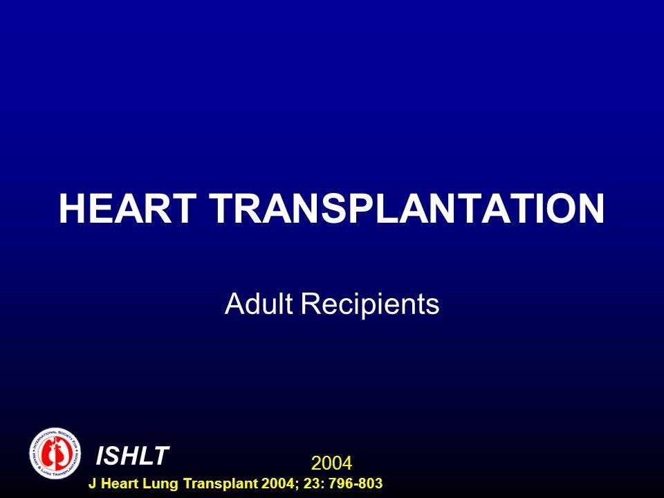 2004 ISHLT J Heart Lung Transplant 2004; 23: 796-803 HEART TRANSPLANTATION Adult Recipients