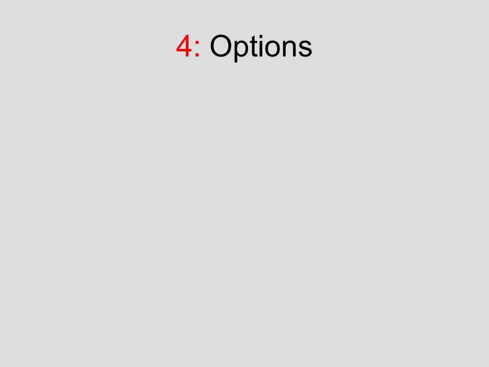 4: Options