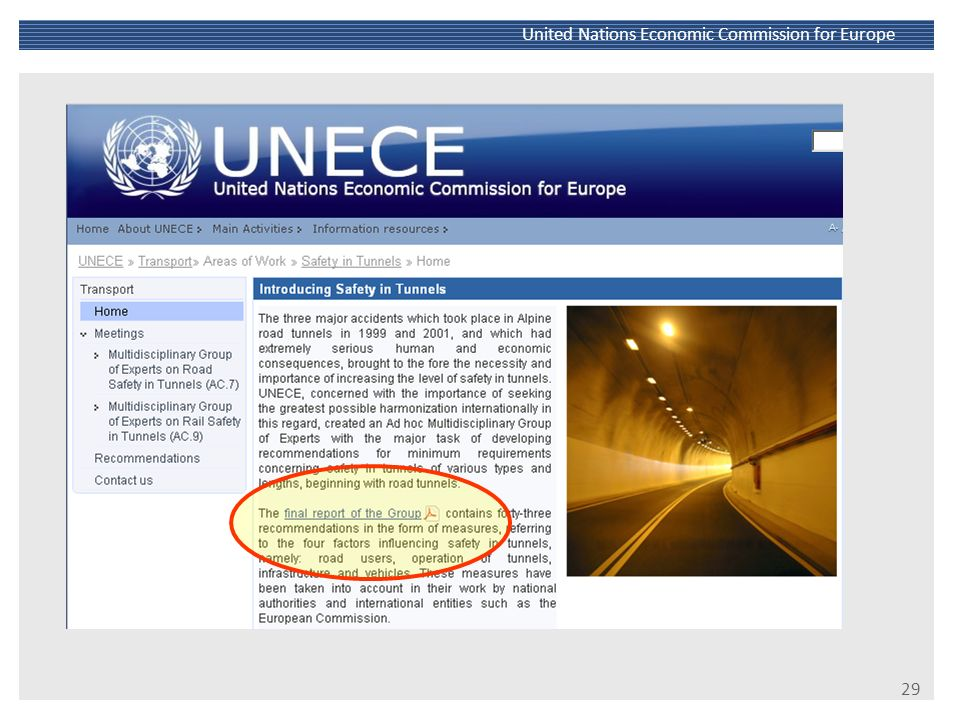 30 United Nations Economic Commission for Europe